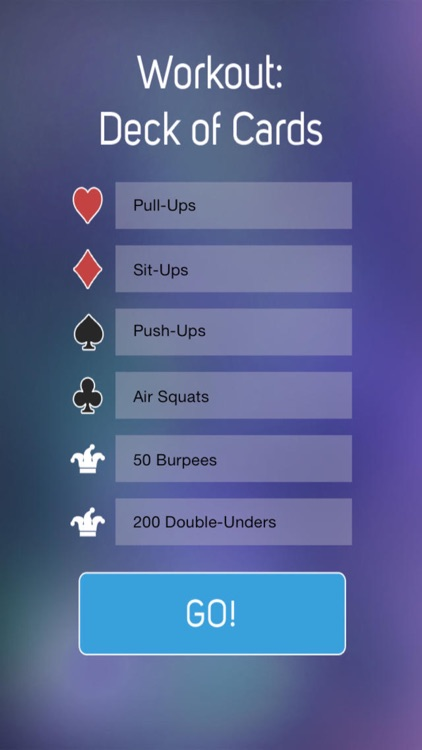 Deck of Cards Workout Free - A Fun Mobile Workout For The Whole Family