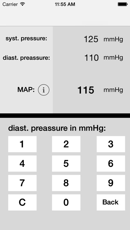 MAP calculator