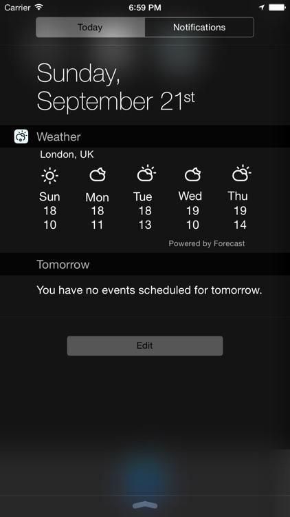 Weather Widget (Forecast + Current Weather)