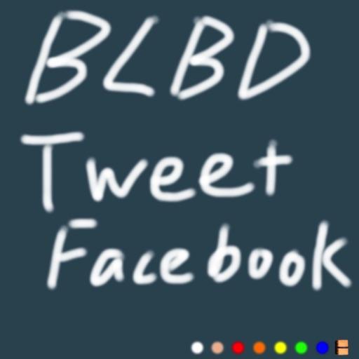 Blackboard Tweet+Facebook