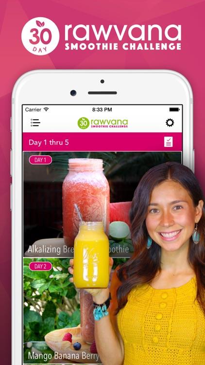 Rawvana's 30 Day Smoothie Challenge screenshot-0