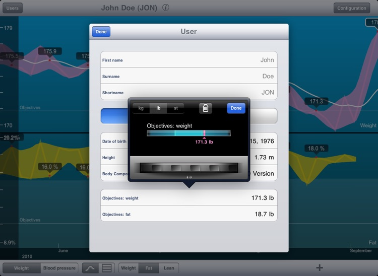 Wiscale - iPad version for weight and blood pressure only