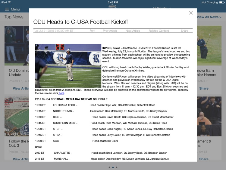ODU Sports iPad 2015 screenshot-4