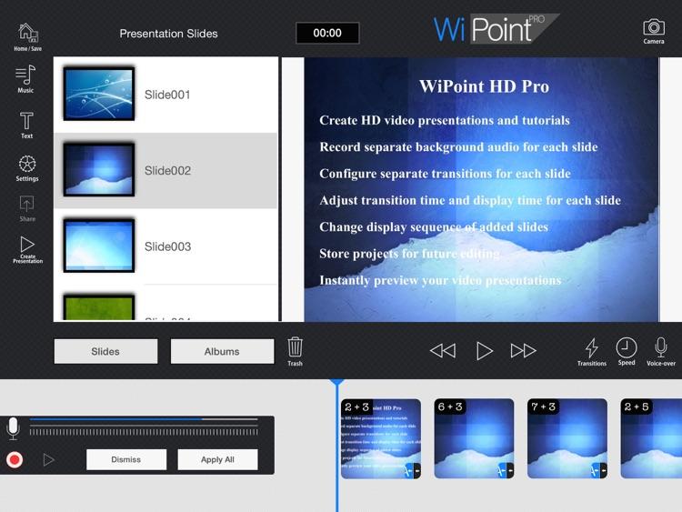 WiPoint HD Pro - Make HD video presentation & photo slideshow