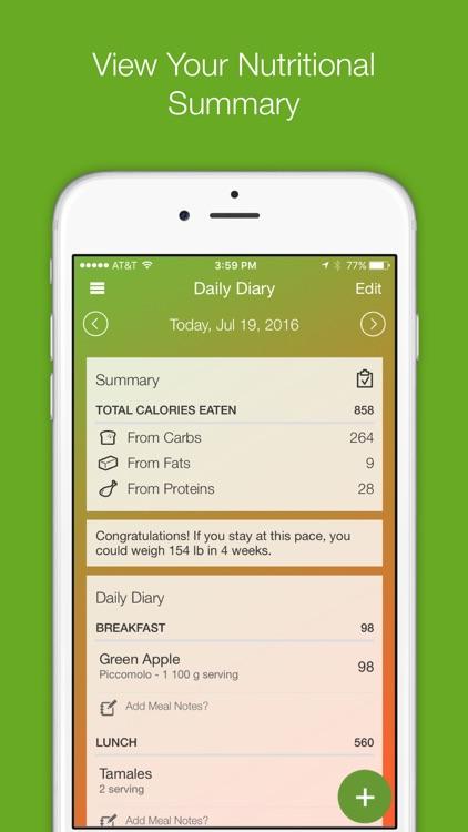 My Diet Diary Calorie Counter App screenshot-4