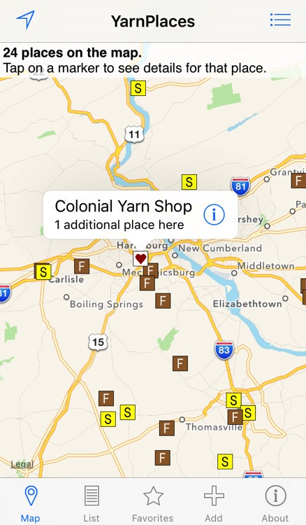 YarnPlaces - Find Yarn Shops
