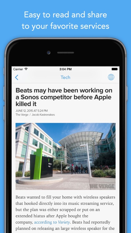 Newsify: Your News, Blog & RSS Feed Reader app image