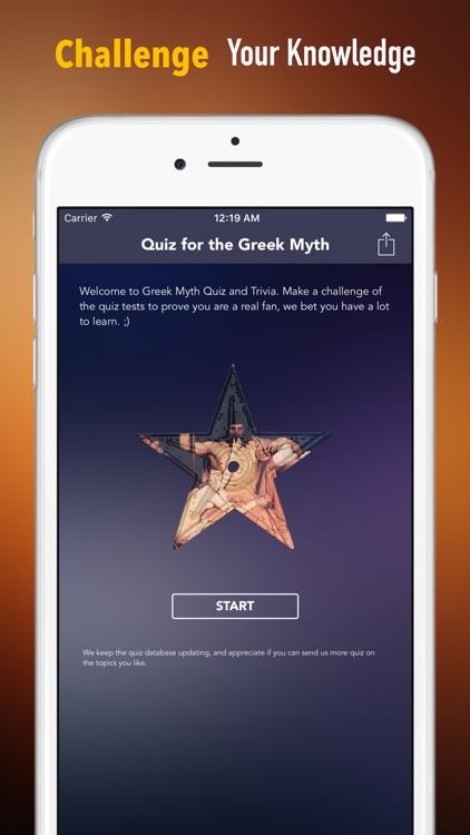 Greek Myth Trivia and Quiz: Fun Legends Test Games
