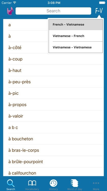 Lac Viet Dictionary: French - Vietnamese