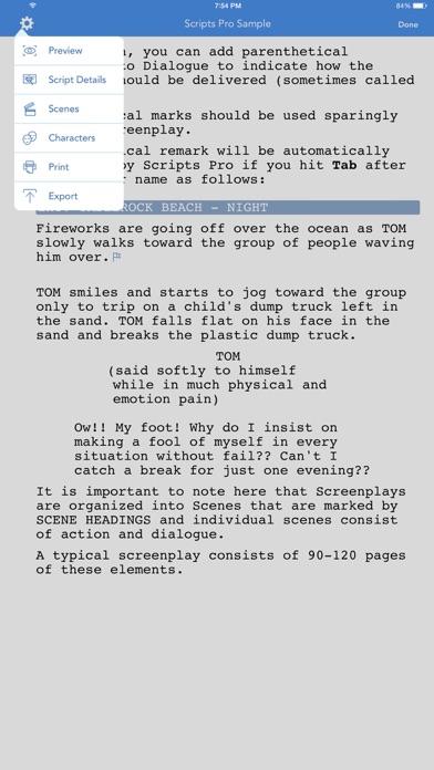 Scripts Pro review screenshots