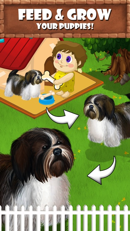 Puppy Care - puppies feed, breed, battle pet games screenshot-4