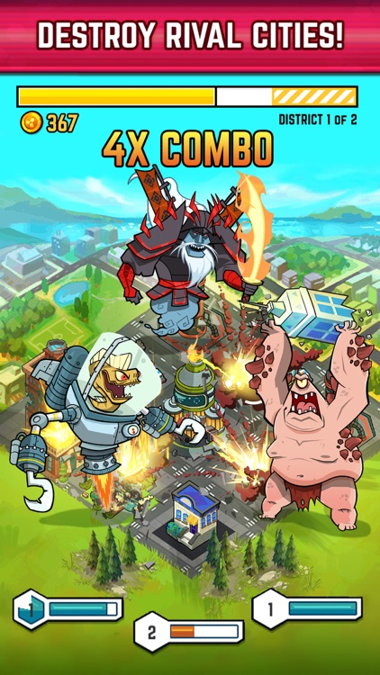 Smash Monsters - City Rampage screenshot-0