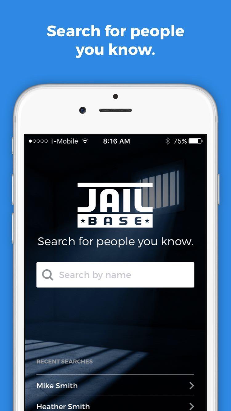 JailBase Arrests and Mugshots Screenshot