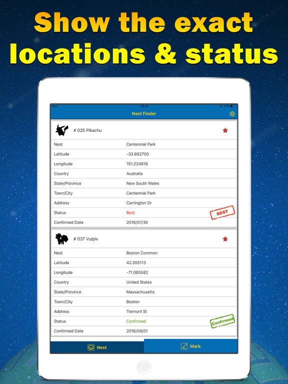 Nest Finder for Pokemon GO-Poke Sniper | App Price Drops