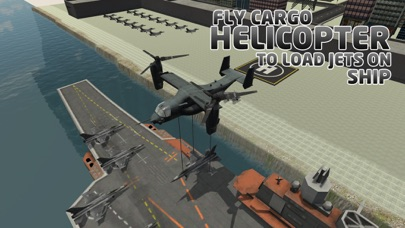 Jet Transporter Ship Simulator – Load army cargo