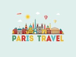 Paris France Stickers