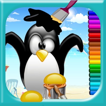 Coloring Pages Game Penguin For Kids