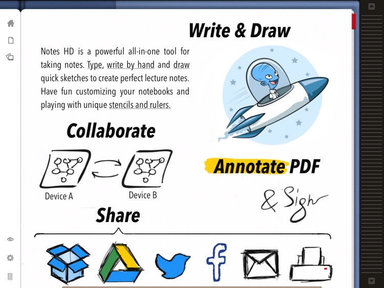 Notes HD Lite: Notes, Drawings