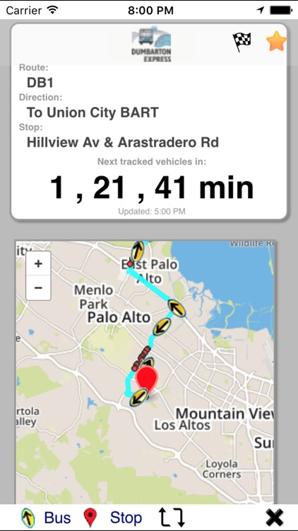 xtBus transit browser for your next bus arrivals