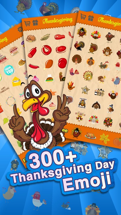 Thanksgiving Day Emoji - Holiday Emoticon Stickers for Messages & Greetings