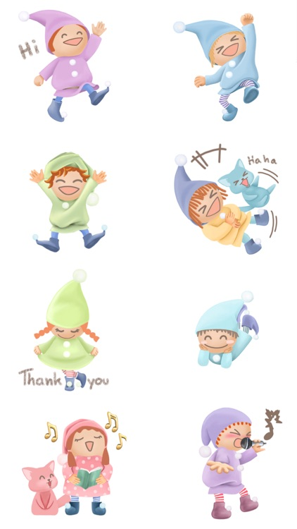 Pommin and the Kitty Gang Stickers for Messages screenshot-2