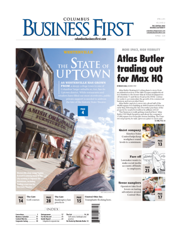 Screenshot of Columbus Business First