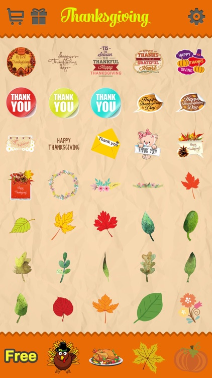 Thanksgiving Day Emoji - Holiday Emoticon Stickers for Messages & Greetings screenshot-4