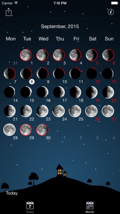 Moon phases calendar and sky screenshot-3