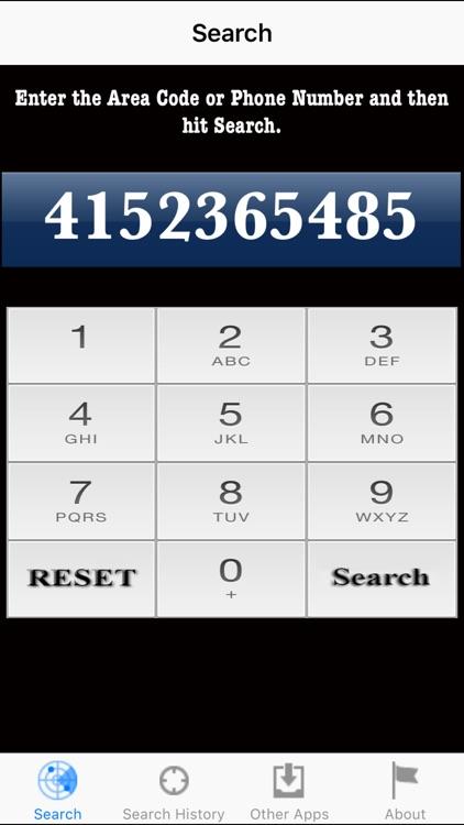 Area Code Search