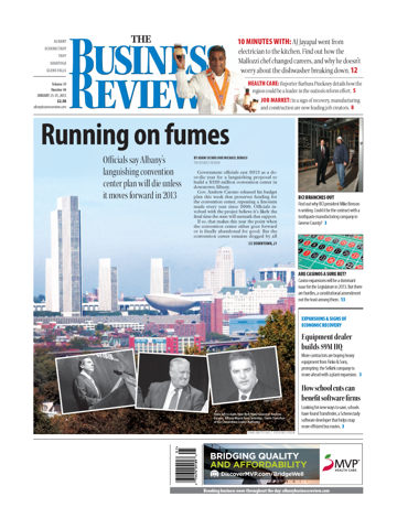 Screenshot of The Business Review Albany