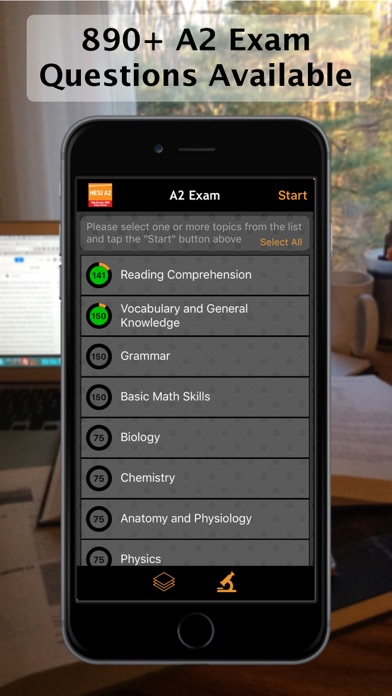 Evolve Reach (HESI) A2 Practice Tests Screenshot on iOS