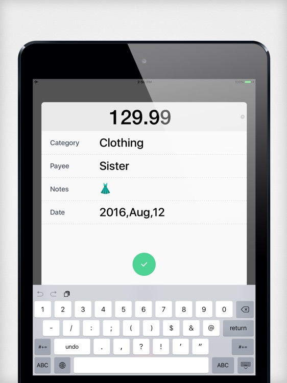 Daily Expense Tracker 2 HD-Home Budget,Daily Cost! screenshot-4