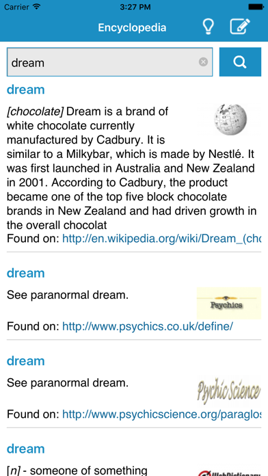 Encyclopedia (EN) screenshot two