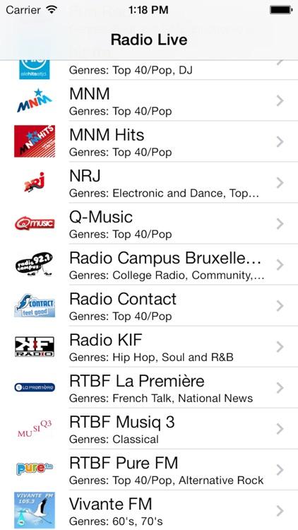 Belgium Radio Live Player: België/Belgique/Belgien