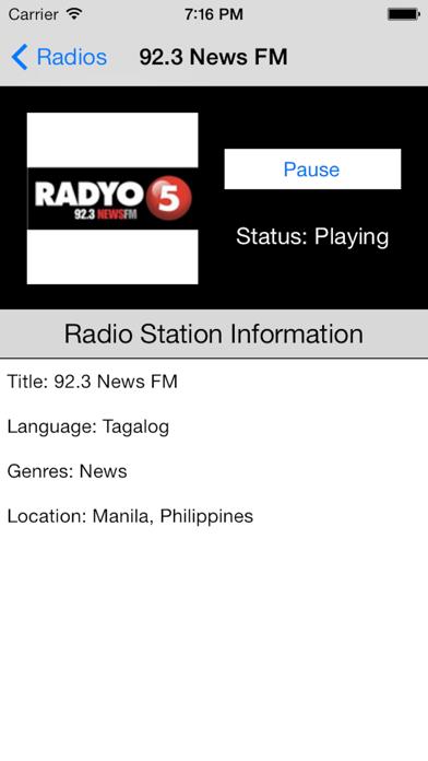 Philippines Radio Live Player (Manila / Filipino / Pilipino