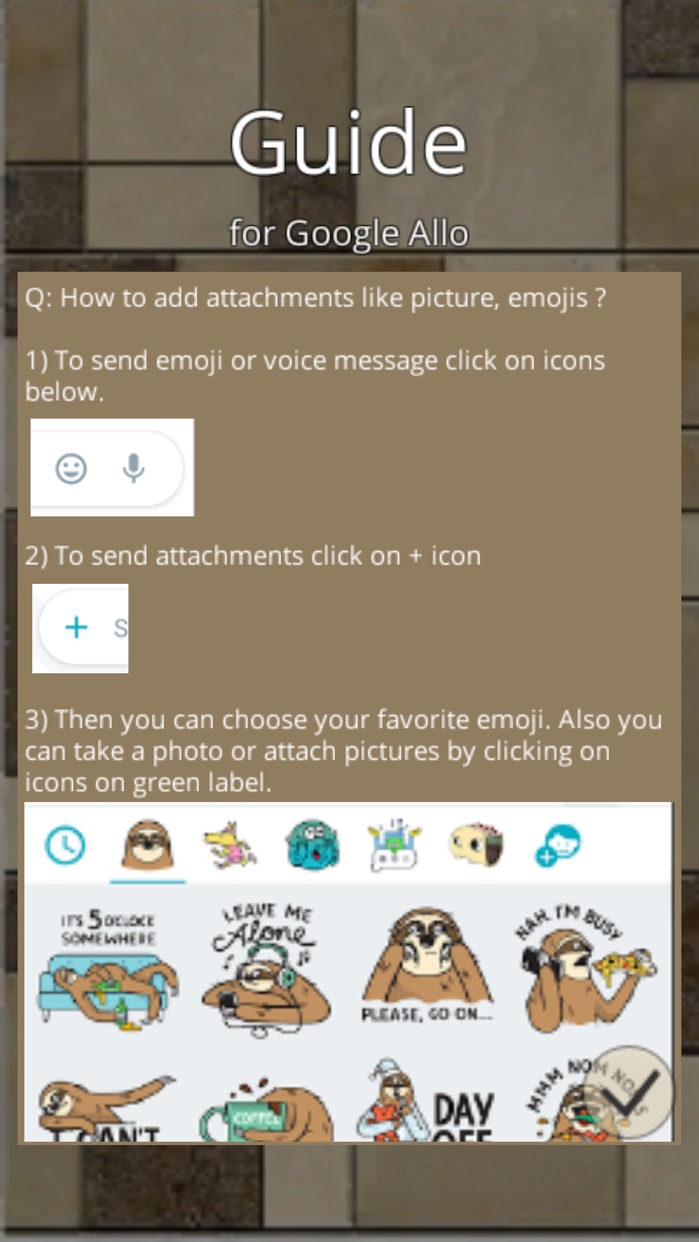 Guide for Google Allo Screenshot