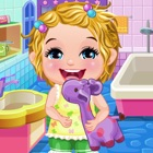Baby Elsa take care & bath icon