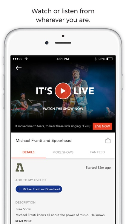 LiveList - Find and Watch Live Streaming Concerts screenshot-3