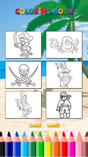 El pirata Coloring Book HD para niños: aprender a pintar y colorear ...