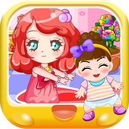 美人鱼公主照顾小宝宝 早教 儿童游戏