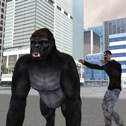 Real Gorilla vs Zombies - City