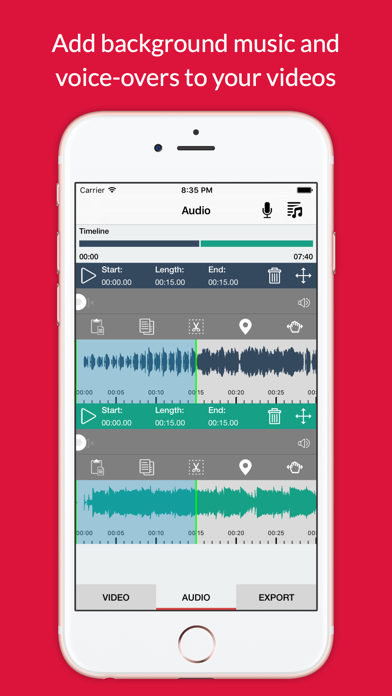Viva Recorder Pro - Record Video With Background Music Screenshot on iOS