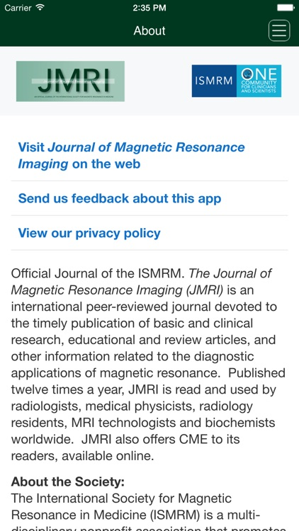 The Journal of Magnetic Resonance Imaging screenshot-3