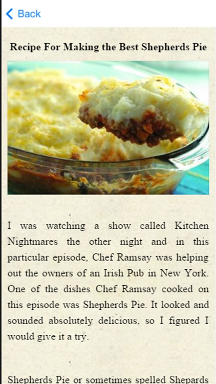Shepherds Pie Recipes