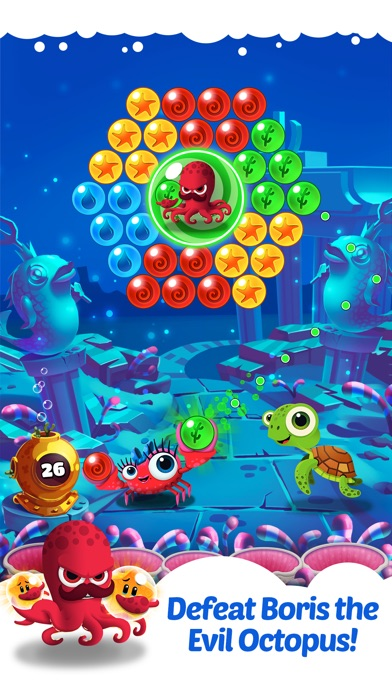 Bubble heroes starfish rescue for Bubble fish game