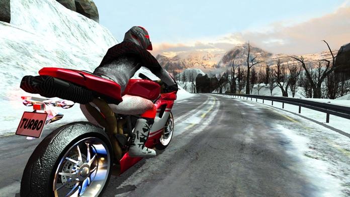 Bike Rider - Frozen Highway Rally Race Free Screenshot