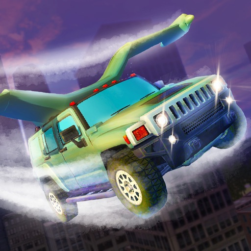 Flying SUV Driver Simulator 3D Full - Try to drive or fly SUV in our futuristic car simulator!