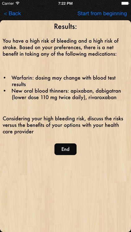 Atrial Fibrillation Patient Decision Tool screenshot-3