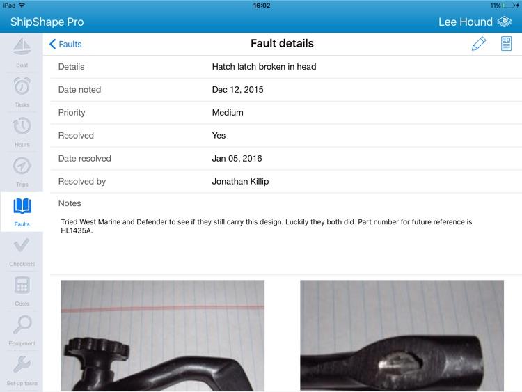 ShipShape Pro -  Boat Maintenance App for iPad screenshot-3