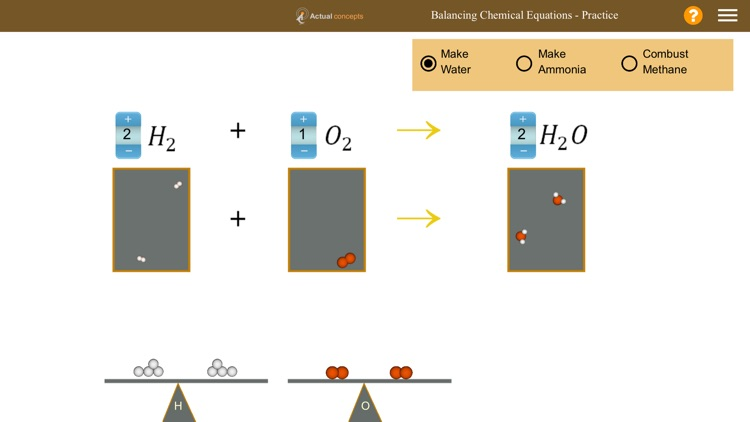 Gamily-Balancing Chemical Equations